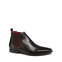 Base London - Black leather 'William' Chelsea boots