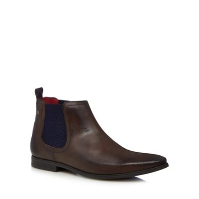 Base London   Brown Leather 'william' Chelsea Boots by Base London