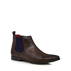 Base London - Brown leather 'William' Chelsea boots
