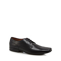 Base London - Black leather 'Hunt' Derby shoes