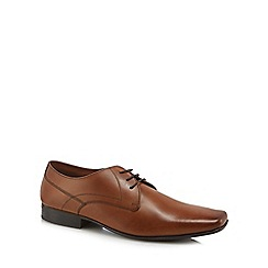 Base London - Tan leather 'Hunt' Derby shoes