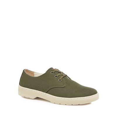 Dr Martens - Khaki 'Delray' lace up shoes