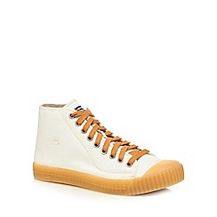 G-Star - White canvas 'Rovulc' high tops