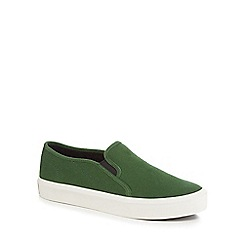 G-Star - Green 'Strett' slip-on trainers