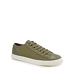 G-Star - Khaki canvas 'Scuba' trainers