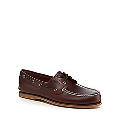 Timberland - Dark brown leather boat shoes