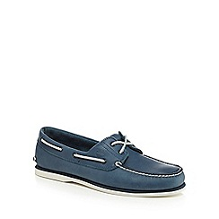 Timberland - Blue leather boat shoes
