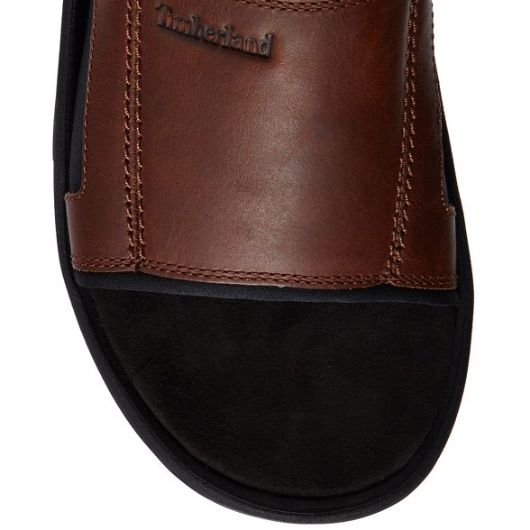 sliders 'Roslindale' sliders Timberland leather 'Roslindale' Timberland Brown Brown leather qrrSpE
