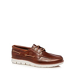 Timberland - Brown leather 'Bradstreet' boat shoes