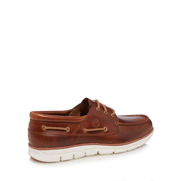 leather Timberland Brown shoes 'Bradstreet' boat SaSYAqw5