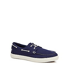 Timberland - Navy canvas 'Union Wharf' boat shoes
