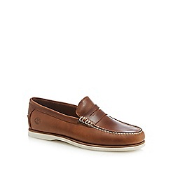 Timberland - Brown leather loafers