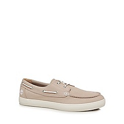 Timberland - Taupe canvas 'Union Wharf' boat shoes