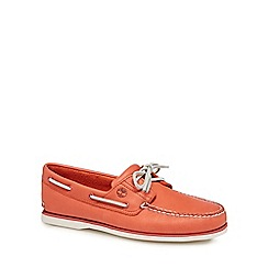 Timberland - Orange leather boat shoes