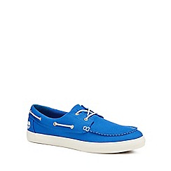 Timberland - Blue canvas 'Union Wharf' boat shoes