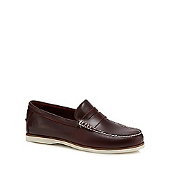 Timberland - Dark brown leather 'Classic' loafers
