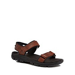 Timberland - Brown leather 'Roslindale' sandals