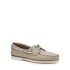 Timberland - Dark brown leather 'Classic' boat shoes