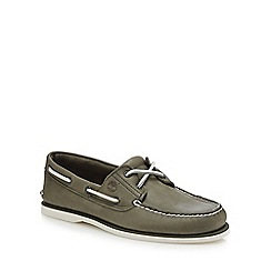 Timberland - Khaki leather 'Classic' boat shoes