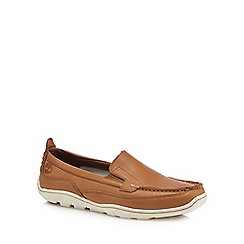 Timberland - Tan leather 'Sandspoint' loafers
