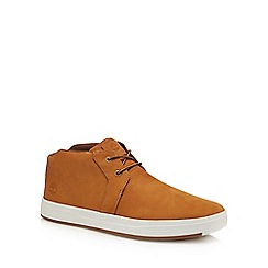 Timberland - Beige suede 'Davis' lace up shoes