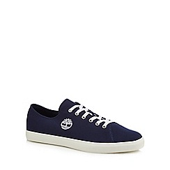 Timberland - Navy canvas 'Union Wharf' trainers