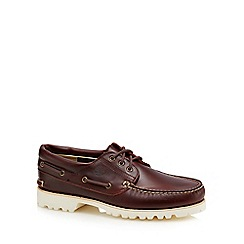 Timberland - Dark brown leather 'Chilmark' boat shoes