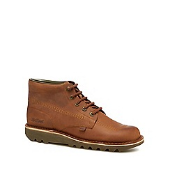 Kickers - Tan leather lace-up boots