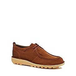 Kickers - Dark tan suede 'Kick Wall B' lace up shoes