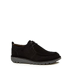 Kickers - Black suede 'Kick Wall B' lace up shoes