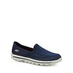 Skechers - Navy 'Go Walk 2' slip-on trainers