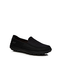 Skechers - Black 'Go Walk 2' slip-on trainers
