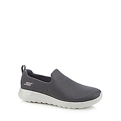 Skechers - Grey 'Go Walk Max' slip-on trainers