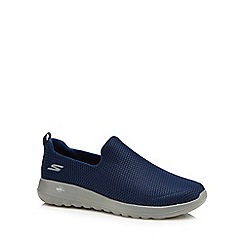 Skechers - Navy 'Go Walk' slip-on trainers