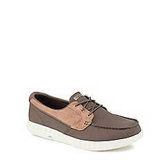 Skechers - Brown canvas 'On The Go Glide' boat shoes