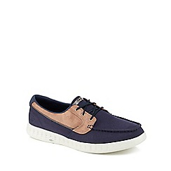 Skechers - Navy canvas 'On The Go Glide' boat shoes