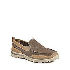 Skechers - Light brown 'Superior' slip-on shoes