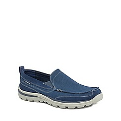 Skechers - Navy 'Superior' slip-on shoes