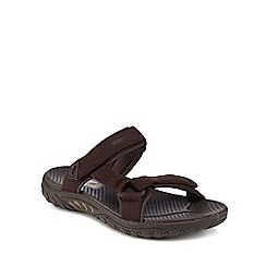 Skechers - Dark brown 'Reggae Vesalo' sandals