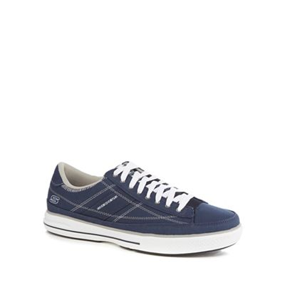 Skechers - Navy canvas 'Arcade Chat' trainers