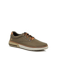 Skechers - Khaki canvas 'Folten Verome' trainers