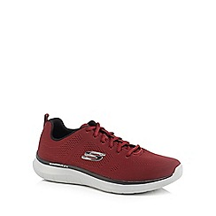Skechers - Dark red 'Quantum' trainers