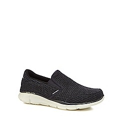 Skechers - Navy knit 'Equalizer' slip-on trainers