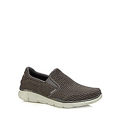 Skechers - Grey knit 'Equalizer' slip-on trainers