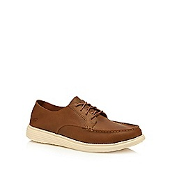 Skechers - Brown leather 'Status' lace up shoes