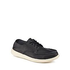 Skechers - Navy leather 'Elite Flex' lace up shoes