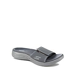 Skechers - Grey 'Go Walk 600' sliders