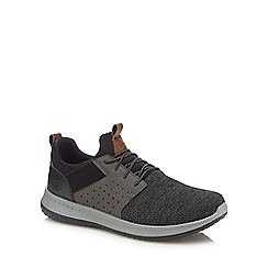 Skechers - Dark grey knitted 'Delson-Camben' trainers