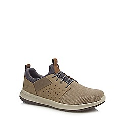 Skechers - Taupe knitted 'Delson-Camben' trainers