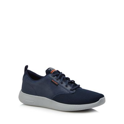 Skechers - Navy 'Depth Charge' lace up trainers